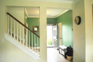 Foyer with open door