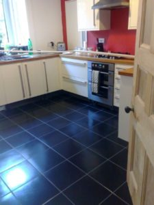 Finished kitchen tile