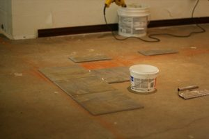 installing a tile floor